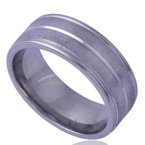Stainless Steel brushed ring size 7